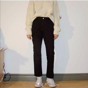 Pants - Black straight leg casual pants